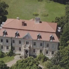 Heiraten: Vogelpersbektive aud das Schloss
