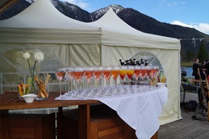 Heiraten - am Land - Tiroler Oberland - Aperitif direkt am See... - Strandperle Seefeld